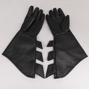 Batman Gloves Costume Dress Up Cosplay Party Black